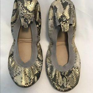 YOSI SAMRA SAMARA Size 7 Metallic  Ballet Flats